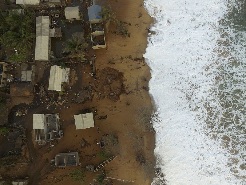 Drone view of coastal Fuvemeh