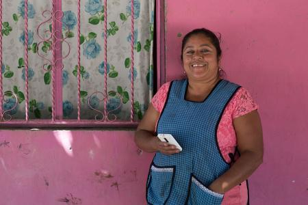 A beneficiary of Mexico's Prospera project