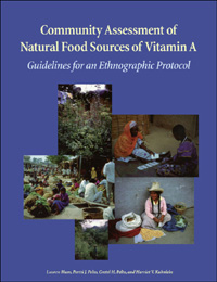 Couverture du livre Community Assessment of Natural Food Sources of Vitamin A : Guidelines for an Ethnographic Protocol