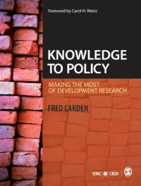 Book cover Knowledge to Policy: Making the Most of Development Research