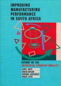 Couverture du livre Improving Manufacturing Performance in South Africa