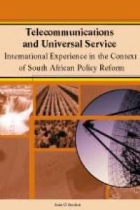 Couverture du livre Telecommunications and Universal Service : International Experience in the Context of South African Policy Reform