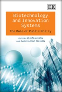 Book cover Biotechnology and Innovation Systems: The Role of Public Policy
