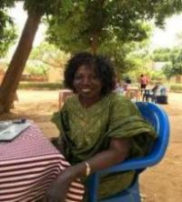 Aline, a doctoral student at the University of Ouagadougou in Burkina Faso