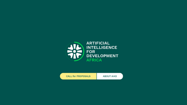 The landing page of the new website for AI4D Africa, which also houses the application process