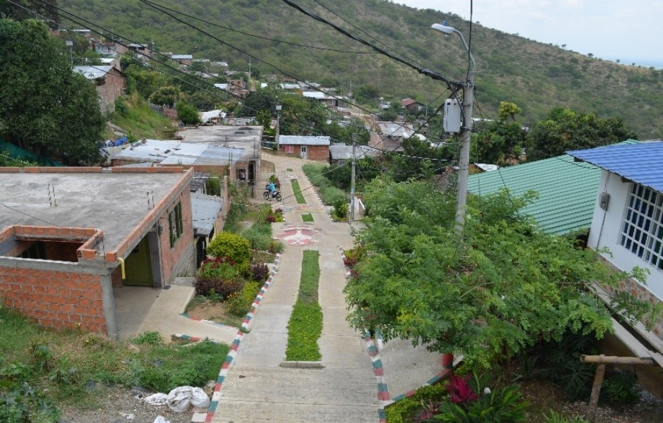 Using green infrastructure to mitigate flooding in informal areas in Yumbo, Colombia.