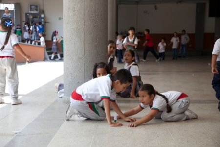 Children at school in Colombia.