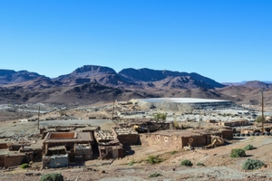 Mine landscape in Morocco