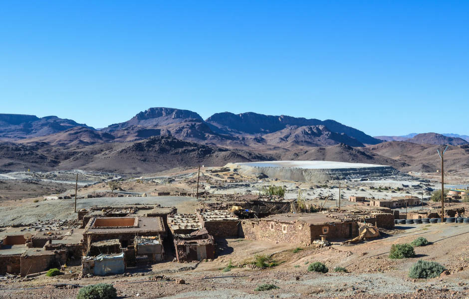 A mine site in Morocco