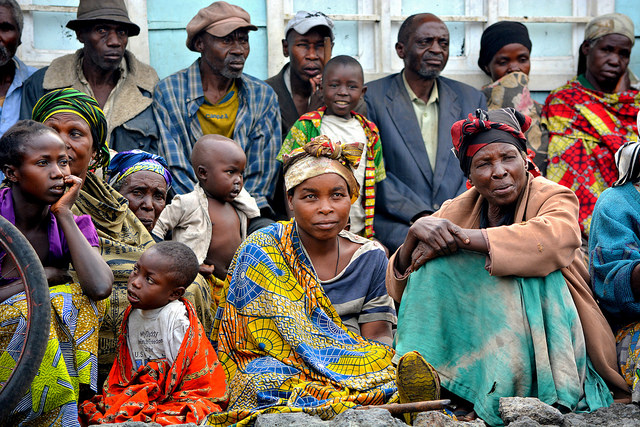 Women and children at an IDP Camp in DRC
