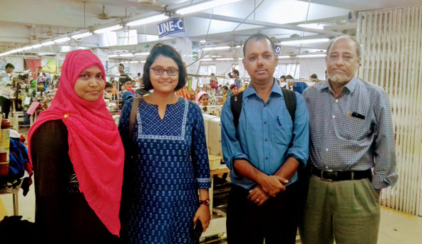 Researchers Tanika Chakraborty and Anirban Mukherjee visit a Bangladeshi garment factory.