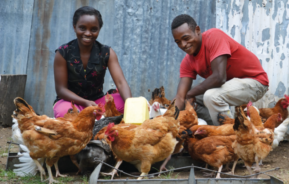 One male entrepreneur from Siaya, who kept two chickens as a hobby before the project, increased production to 200.