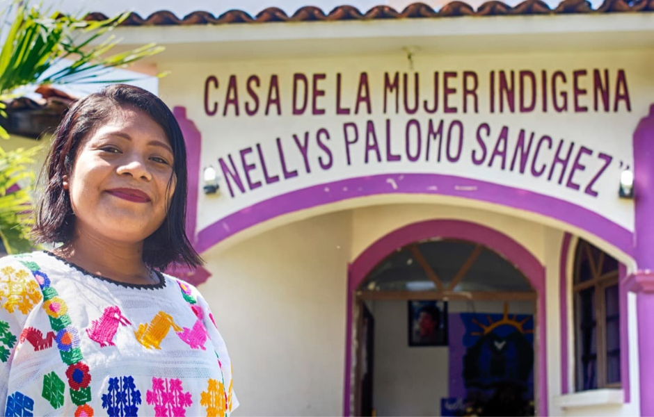 Rosy, who comes from a line of traditional Indigenous midwives, became a professional midwife and offers her services at the Indigenous women's house of San Luis Acatlán, Guerrero, Mexico.