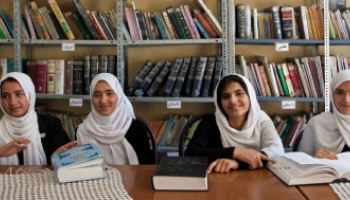 Students at the Female Experimental High School Herat, Afghanistan
