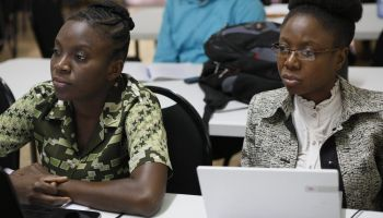 Students in a class room in Haiti