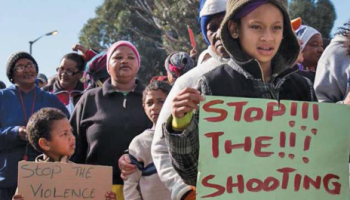 Protest to stop the violence in South Africa