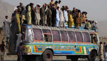 A bus carrying many individuals in Pakistan