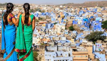 Young Indian women looking at the view.