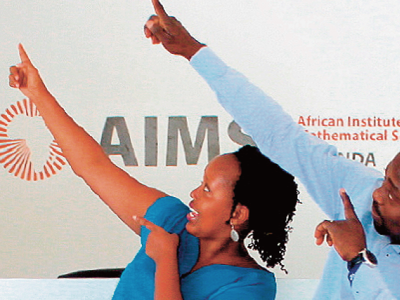 Three students from the African Institute for Mathematical Sciences